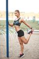 Women outdoor workout