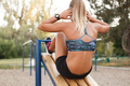 Woman outdoor workout
