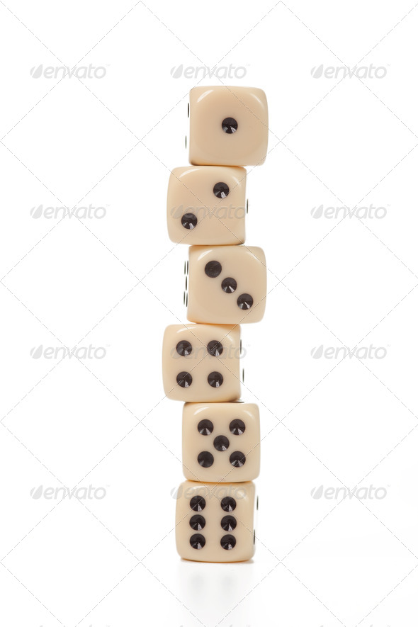 dice on white - Stock Photo - Images