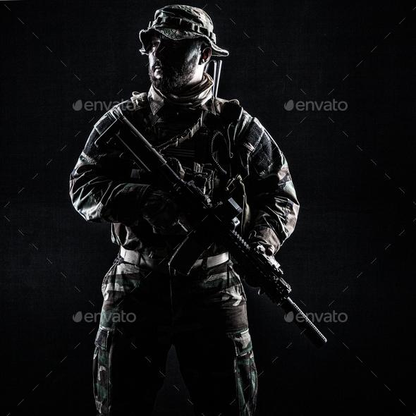Jungle warfare unit - Stock Photo - Images
