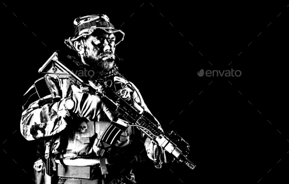 Jungle warfare unit - Stock Photo - Images