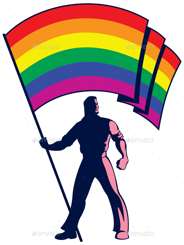 GraphicRiver Pride Flag Bearer 20524002