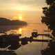 Docks and Boats on Calm Lake at Sunrise in Wisconsin - PhotoDune Item for Sale