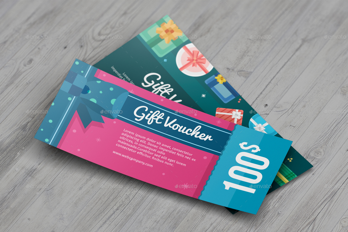 gift discount voucher mock up by massdream graphicriver