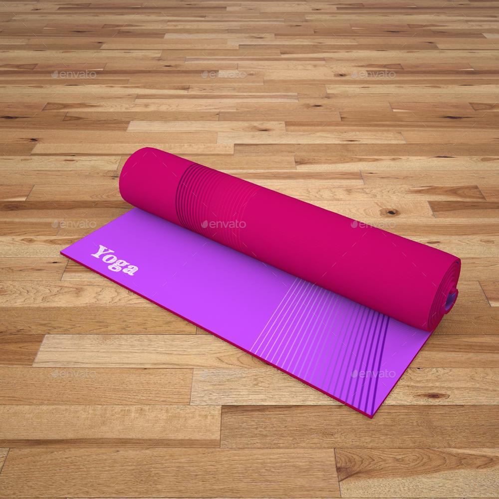 Printed Yoga Mat Exercise Rug Mock-Up By Sanchi477