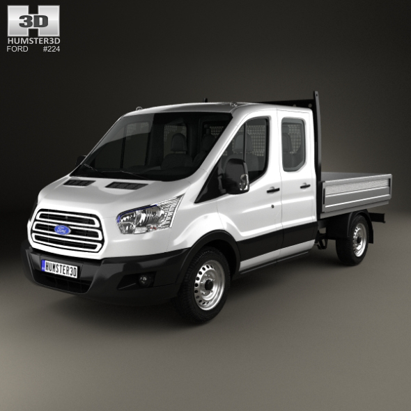Ford Transit Double Cab Dropside 2014 - 3DOcean Item for Sale