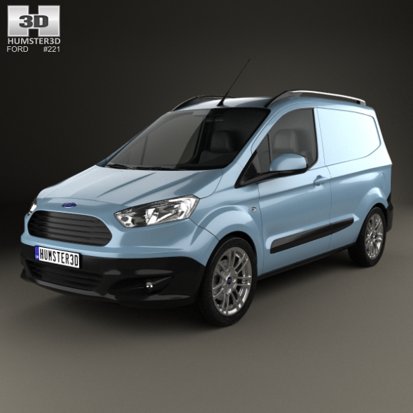 Ford Transit Courier 2015 - 3DOcean Item for Sale
