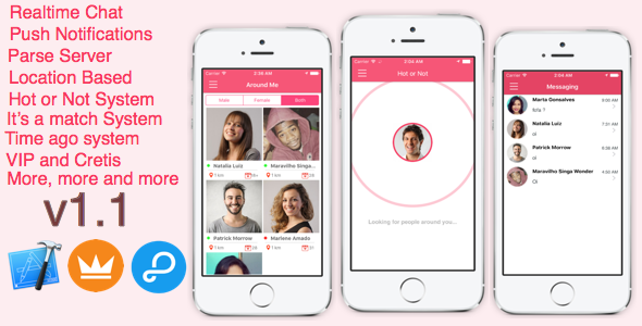 AroundMe - More than a complete dating app (iOS) Parse Server - CodeCanyon Item for Sale