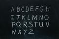 Alphabet letters written in chalk best - PhotoDune Item for Sale