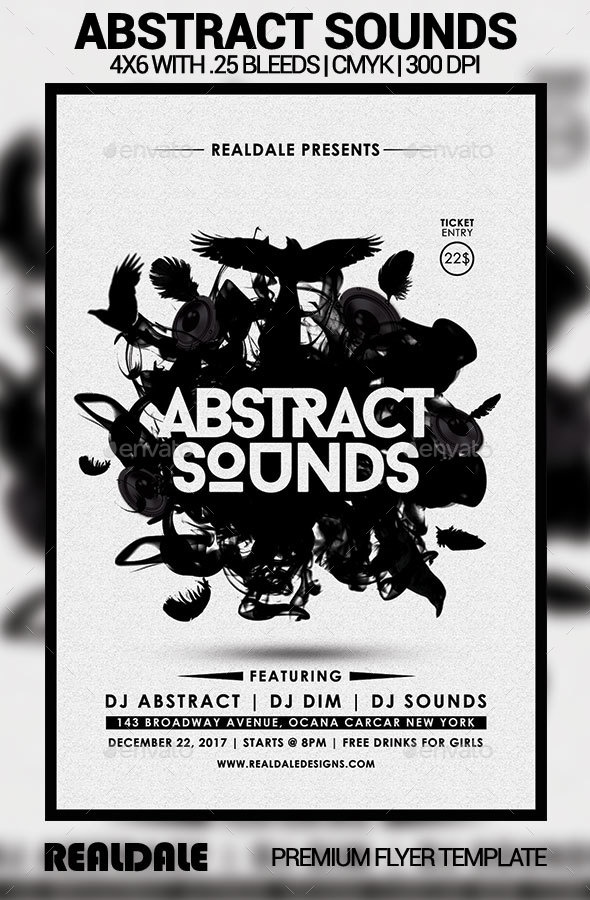 Abstract Sounds - Events Flyers