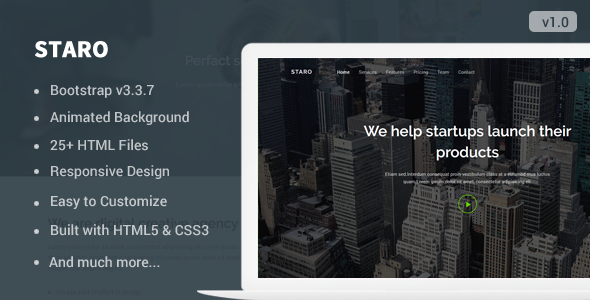 Staro - Responsive Landing Page Template - Landing Pages Marketing