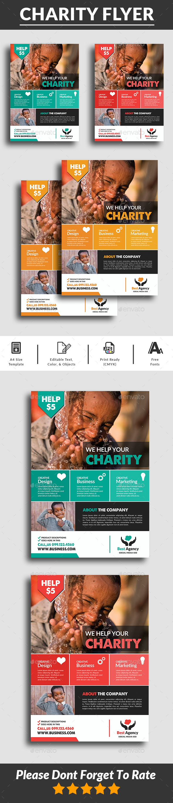 GraphicRiver Charity Fundraisers Flyer 20524785