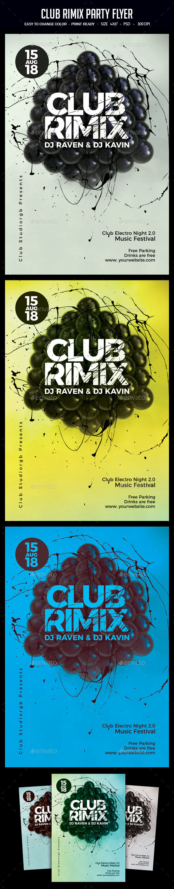 Club Rimix Party Flyer - Clubs & Parties Events