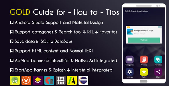 CodeCanyon Gold Guide for How to Tips App with Admob & Native Ad & StartApp 20524900