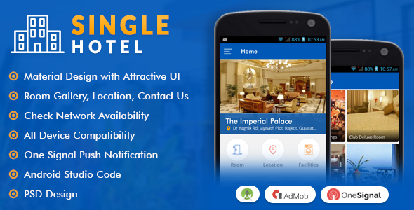 single hotel app with material design by viaviwebtech codecanyon