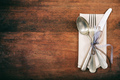 Table setting on wooden background - PhotoDune Item for Sale