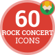 Rock Concert Music Studio Animation - Flat Icons and Elements