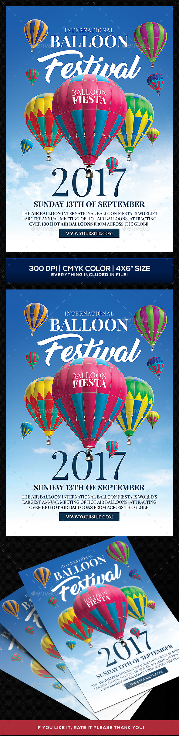 Hot Air Baloon Festival Flyer template - Events Flyers