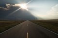 Supercell Storm Blocks out the Sun Rural Road Highway - PhotoDune Item for Sale