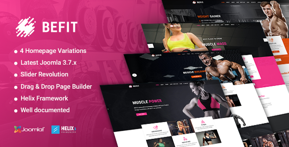 BeFit - Gym & Fitness Joomla template - Health & Beauty Retail