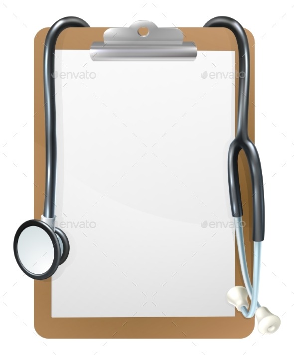 GraphicRiver Medical Clipboard Background 20525383