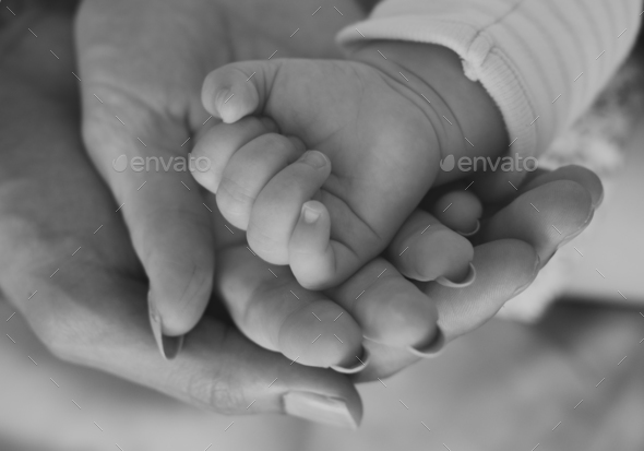 Mother and Baby Newborn Love Emotional Family - Stock Photo - Images