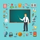 Back To School. Teacher with Pointer Stick - GraphicRiver Item for Sale