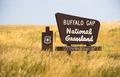 Buffalo Gap Forest Grassland Roadside Monument Sign South Dakota