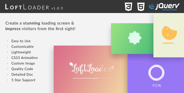 LoftLoader jQuery - Create a Stunning Loading Screen - CodeCanyon Item for Sale