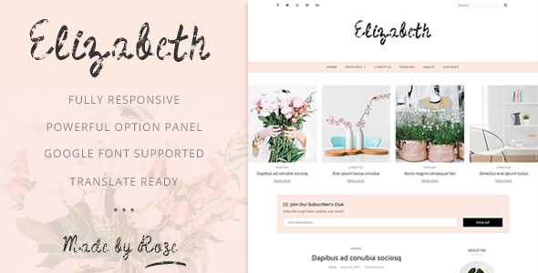 Image of Elizabeth - A Responsive WordPress Blog Theme