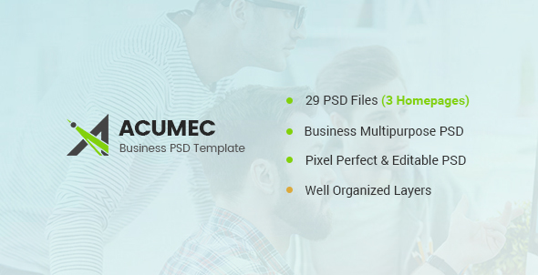 Acumec – Business Multipurpose PSD Template