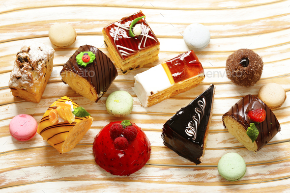Assorted Mini Cakes Stock Photo by Dream79 | PhotoDune