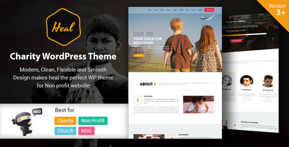 Heal - Multipurpose Charity WordPress Theme - Charity Nonprofit