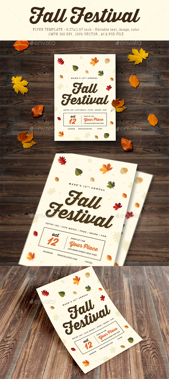 GraphicRiver Fall Festival Flyer 03 20526488