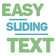 Easy Sliding Text - VideoHive Item for Sale