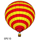 Hot Air Balloon Vector Illustration.