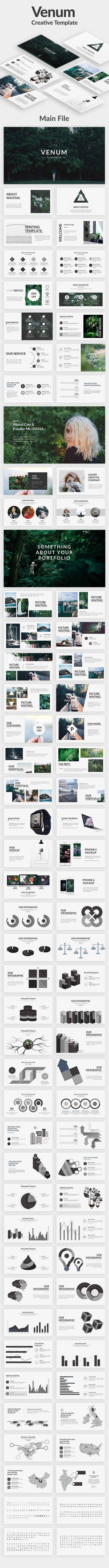 Venum Creative Google Slide Template - Google Slides Presentation Templates