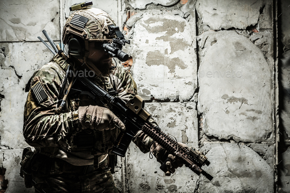 Army Ranger in field Uniforms - Stock Photo - Images