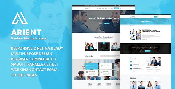 Arient - Business Consulting and Professional Services HTML Template
