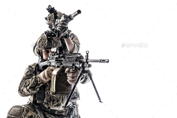 Army Rangers in field Uniforms - Stock Photo - Images