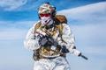 Winter arctic mountains warfare