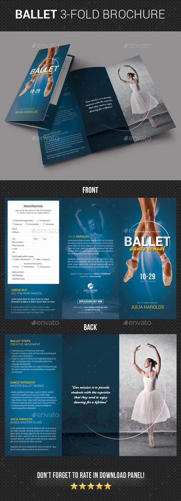 Ballet Workshop 3-Fold Brochure - Brochures Print Templates