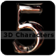 Glossy 3D Characters - GraphicRiver Item for Sale