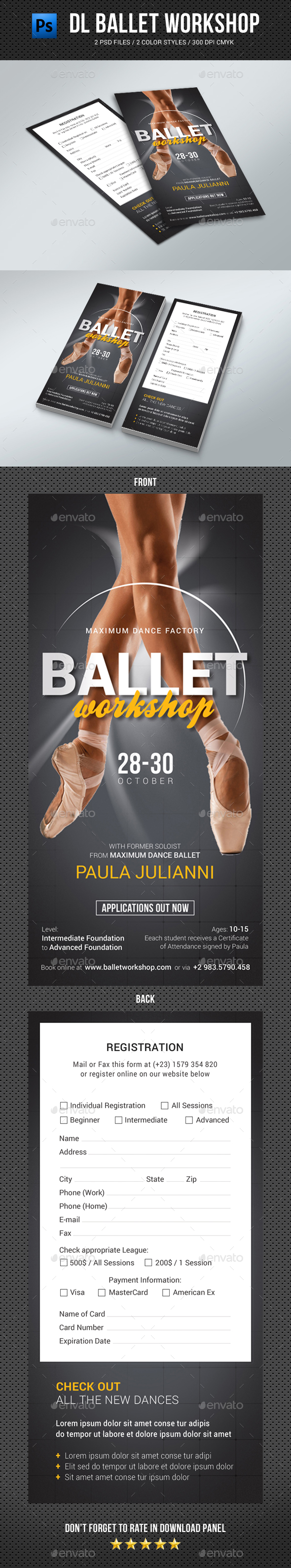 DL Ballet Workshop Flyer - Events Flyers