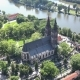 Saint Peter and Paul Basilica Aerial View at Morning in Prague Czech Republic - VideoHive Item for Sale