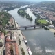 Aerial Camera Slowly Moves Away From Prague Castle, the Charles Bridge and River Vltava  - VideoHive Item for Sale