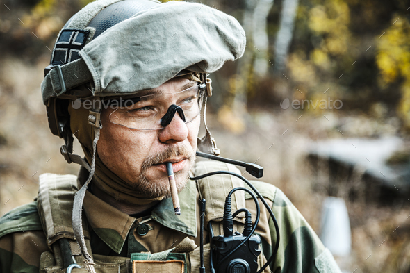 Norwegian Armed Forces soldier - Stock Photo - Images