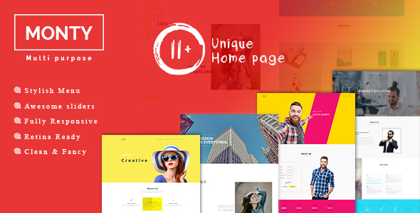 Monty Responsive & Multipurpose OnePage Template