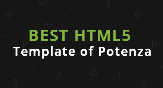 Best HTML5 template of Potenza