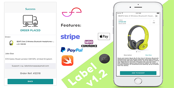 Label - Creative IOS App For Woocommerce Stores - Swift 3 - CodeCanyon Item for Sale